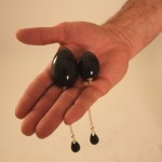 Anal Egg Jewelry With Black Pendant