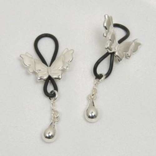 Butterfly Nipple Jewelry Non Piercing Gold or Silver