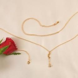 Crescent Moon 18K Gold Waist Chain