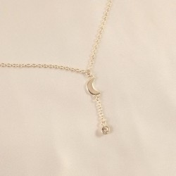 Crescent Moon Silver Waist Chain