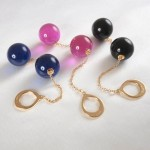 Double Crystal Orbs Gold Jewelry