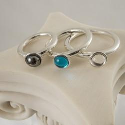 Gem Stone Sterling Silver Penis Ring