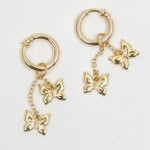Gold Dangling Butterflies Non Piercing Labia Jewelry Rings