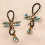 Gold Dragonfly Non Piercing Nipple Ring Jewelry