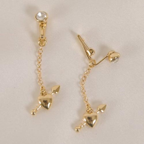 Gold Hearts Labia Jewelry