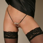 Helping Hands Silver Labia Ring G-String Jewelry