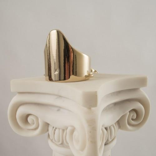Men's Wide Gold Penis Ring G-String