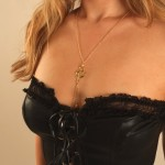 Midnight Cat Moon Gold Nipple Necklace