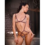 Nude Tulle Embroidered Body Chastity