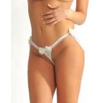 Skirtini Crotchless Thong Honeymoon Lingerie White/Yellow-green