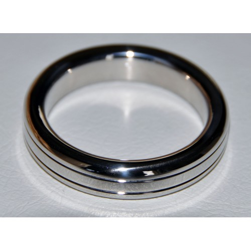 Stainless Steel Grooved Cock Ring