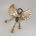 Wings of Desire Gold Non-Piercing Nipple Rings