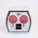 Bijoux de Nip Round Red Crystal Pasties w/ Facet Beads