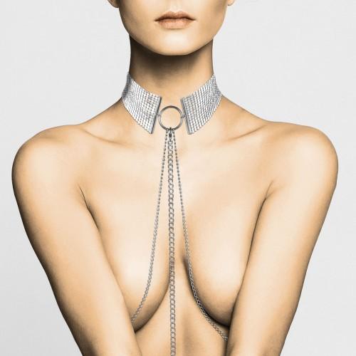 Desir Metallique - Metalic Mesh Silver Collar