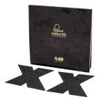 Flash Glitter Pasties - Cross X Black