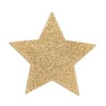 Flash Glitter Pasties - Star Gold