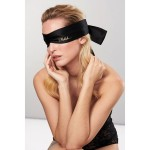 Shhh Black Satin Blindfold