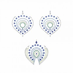 Flamboyant Vajazzling Body Jewelry - Blue/Green