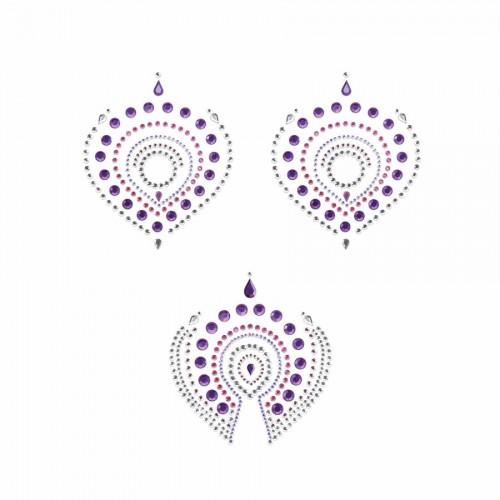 Flamboyant Vajazzling Body Jewelry - Violet/Pink