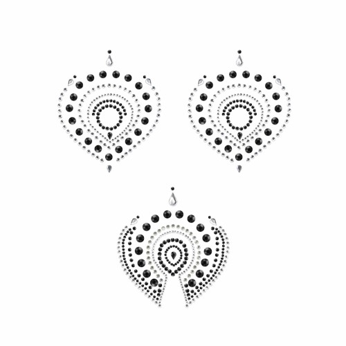 Flamboyant Vajazzling Body Jewelry - Black/Clear