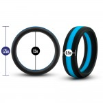 Performance - Silicone Go Pro Ring Black & Blue