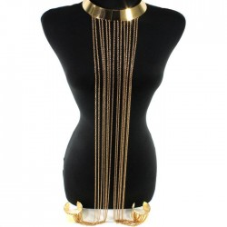 Gold Fashion Collar Bangle Cuffs Body Chain