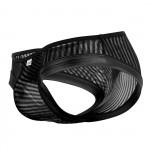 CandyMan 99545 Black On black Stripes Briefs