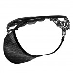 CandyMan 99563 Mesh-Lace G-String Color Black