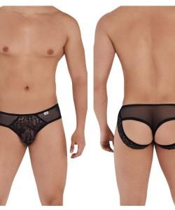 CandyMan 99565 Mesh-Lace Thongs Color Black