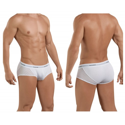 5386 Glamour Piping Briefs Color White
