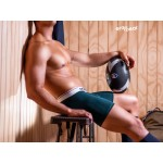 EW0909 MAX Modal Midcut Boxer Briefs Color Pine Green