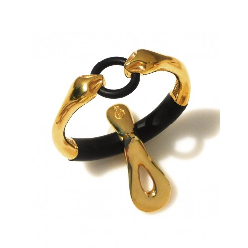 "JockRing Boa ""Debut"" Gold Cock Ring Bracelet with Caprice"
