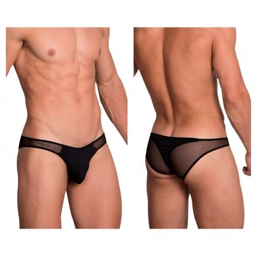 Hidden 972 Mesh Bikini-Thong Color Black