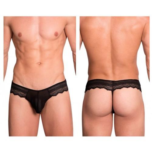 Hidden 973 Lace Thongs Color Black