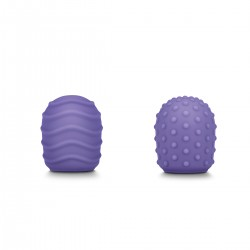 Le Wand Petite Massager Textured Covers 2-pack