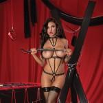 Lust Fetish Seducer Harness Teddy Black