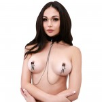 Black Collar And Nipple Clips