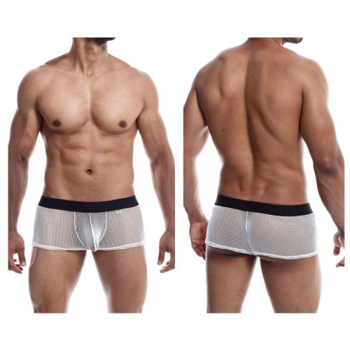 Sensual White Mesh Boxer Briefs