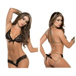 8134 Two Piece Lingerie Set Color Black