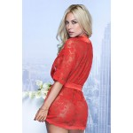7115 Lace Robe Color Red