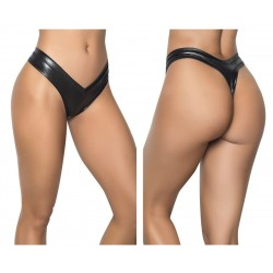 1095 High Leg Thong Color Wet Black