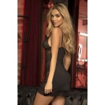 7301 Babydoll with Matching G-String Color Black
