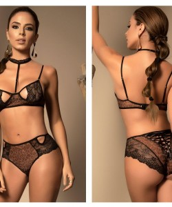8418 Two Piece Set Color Black