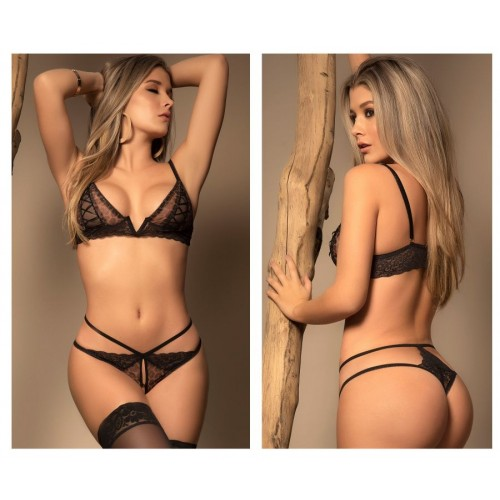 8419 Two Piece Set Color Black