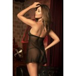 8442 Babydoll with Matching G-String Color Black