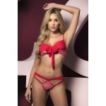 8460 Two Piece Set Color Pink-Red