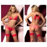 8461 Two Piece Set Color Pink-Red