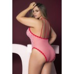 8464X Bodysuit Color Pink-Red