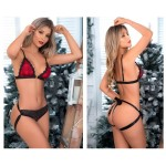 8466 Two Piece Set Color Black-Red