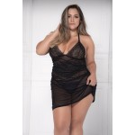 8481X Babydoll with Matching G-String Color Black